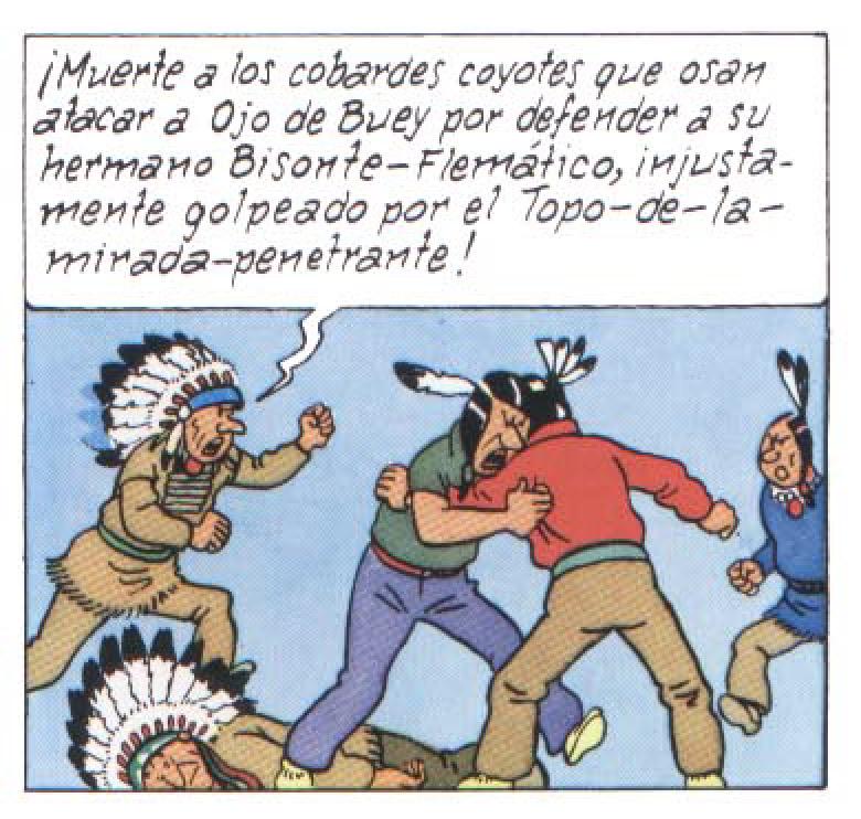 Indios en Tintin en America