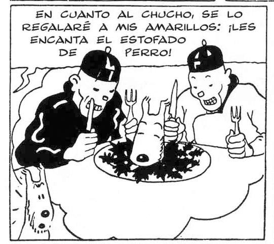Chinos en Tintin en America